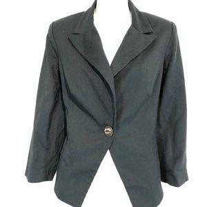 CABI 322 Dark Gray Suit Jacket Tiered Blazer ~ 10